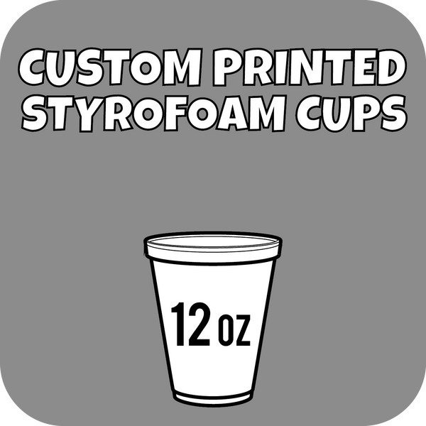 12oz Custom Printed Styrofoam Cups 1000ct - CustomPaperCup.com Branded Restaurant Supplies
