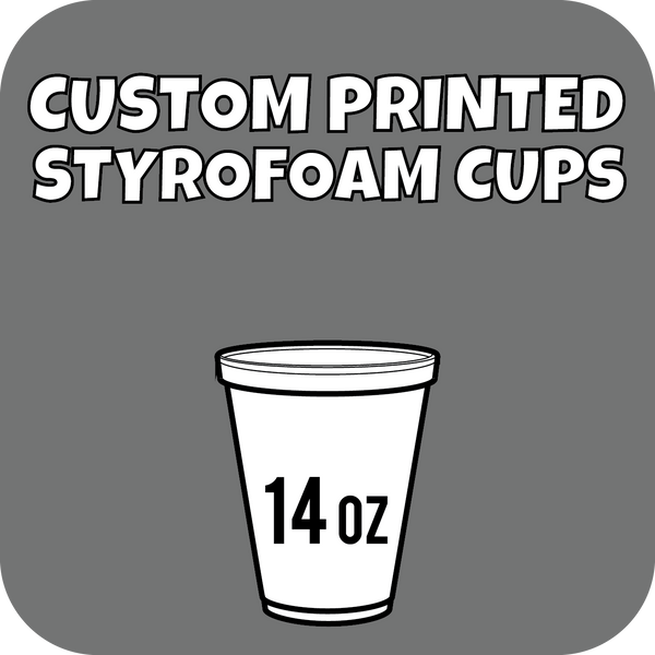 14oz Custom Printed Styrofoam Cups 1000ct - CustomPaperCup.com Branded Restaurant Supplies