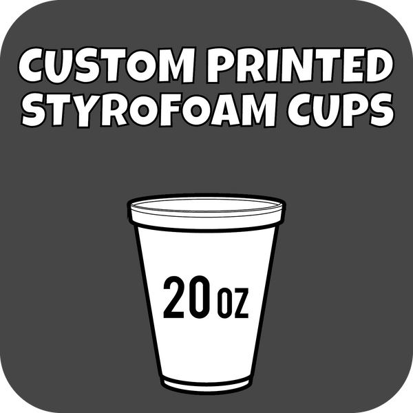 20oz Custom Printed Styrofoam Cups 500ct - CustomPaperCup.com Branded Restaurant Supplies