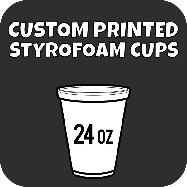 24oz Custom Printed Styrofoam Cups 500ct - CustomPaperCup.com Branded Restaurant Supplies