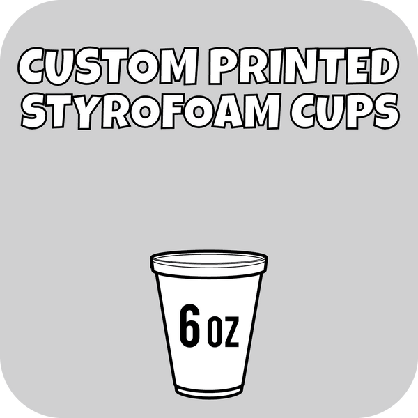 6oz Custom Printed Styrofoam Cups 1000ct - CustomPaperCup.com Branded Restaurant Supplies
