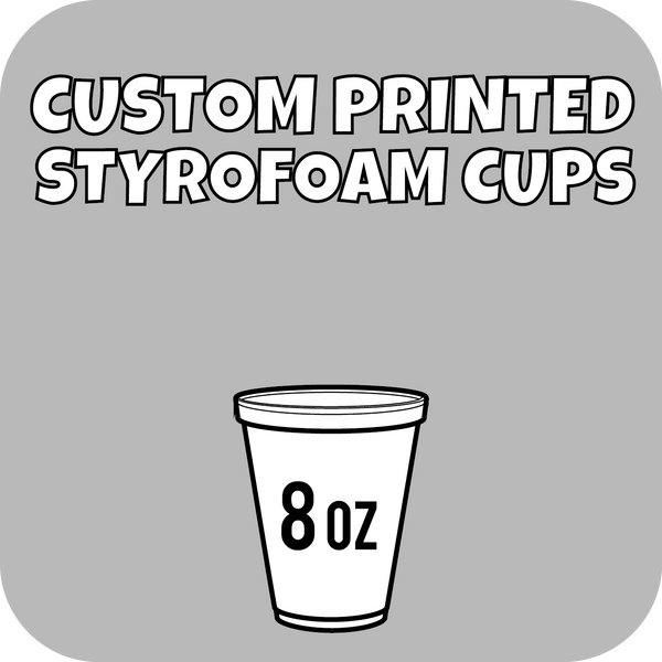 8oz Custom Printed Styrofoam Cups 1000ct - CustomPaperCup.com Branded Restaurant Supplies