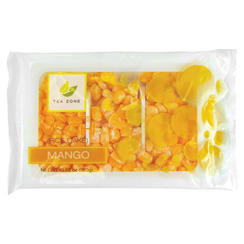 Tea Zone Mango Mini Mochi - Bag - CustomPaperCup.com Branded Restaurant Supplies