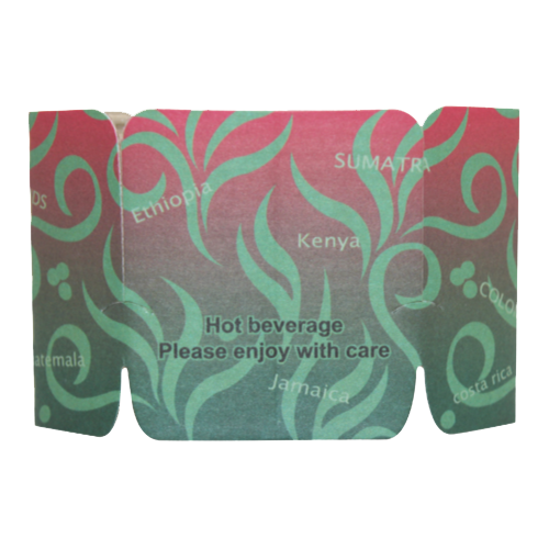 Tulip Cup Jackets - Aroma II - 1,000 ct - CustomPaperCup.com Branded Restaurant Supplies
