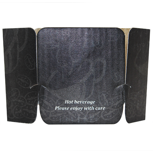 Tulip Cup Jackets - Ebony - 1,000 ct - CustomPaperCup.com Branded Restaurant Supplies