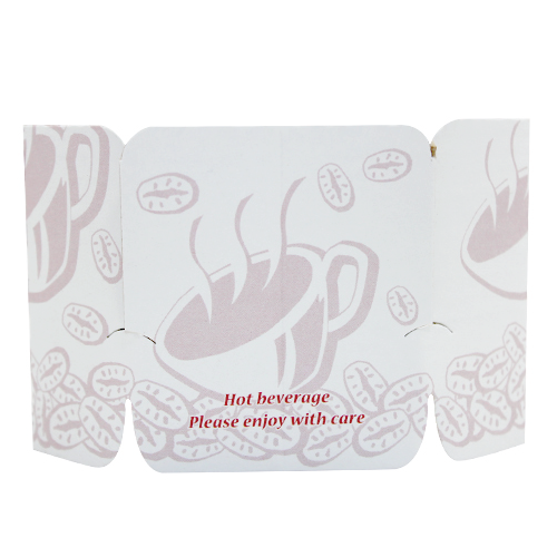 Tulip Cup Jackets - Ivory - 1,000 ct - CustomPaperCup.com Branded Restaurant Supplies