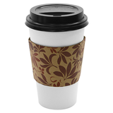 Traditional Cup Jackets - Fleur Brown - 1,000 ct - CustomPaperCup.com Branded Restaurant Supplies