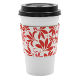 Traditional Cup Jackets - Fleur Red - 1,000 ct - CustomPaperCup.com Branded Restaurant Supplies