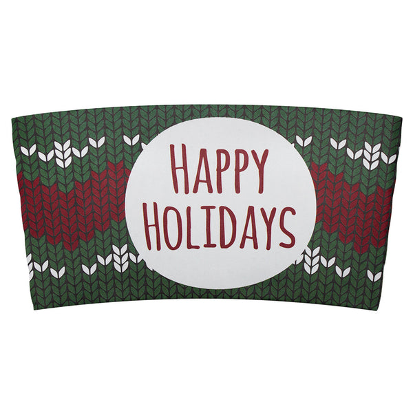 Traditional Cup Jackets - Holiday Sweater - 1,000 ct - CustomPaperCup.com Branded Restaurant Supplies