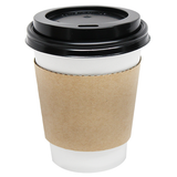 8oz Traditional Cup Jackets - Kraft - 1,000 ct - CustomPaperCup.com Branded Restaurant Supplies