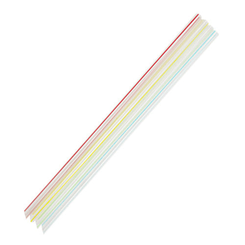 9'' Jumbo Straws (5mm) - Mixed Striped Colors - 8,000 ct - CustomPaperCup.com Branded Restaurant Supplies