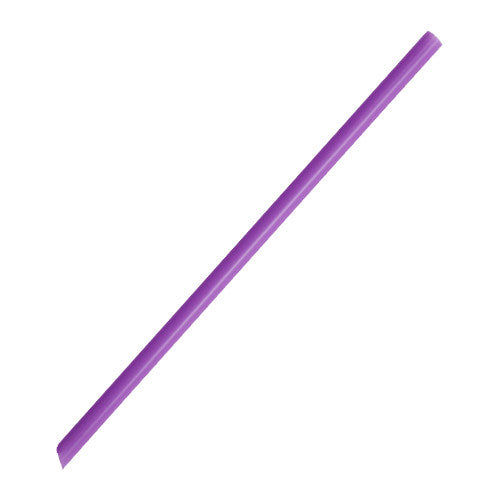 7.75'' Giant Straws (8mm) Poly Wrapped - Purple - 5,000 ct - CustomPaperCup.com Branded Restaurant Supplies