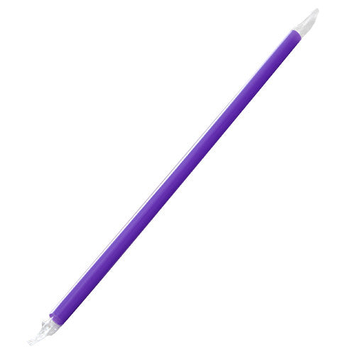 9'' Giant Straws (8mm) Poly Wrapped - Purple - 2,500 ct - CustomPaperCup.com Branded Restaurant Supplies