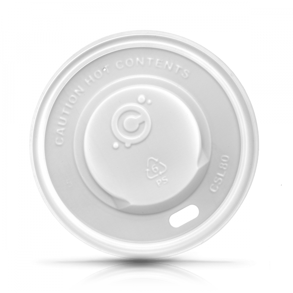 80mm Hot Cup Lid- WHITE 1000ct - CustomPaperCup.com Branded Restaurant Supplies