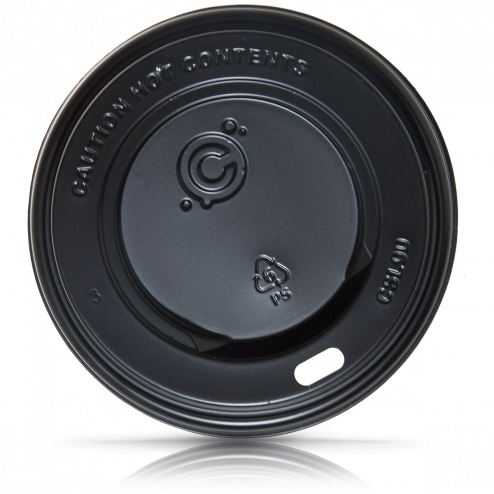 90mm Hot Cup Lid- BLACK 1000ct - CustomPaperCup.com Branded Restaurant Supplies