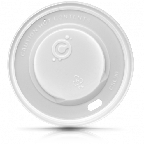 90mm Hot Cup Lid-  WHITE 1000ct - CustomPaperCup.com