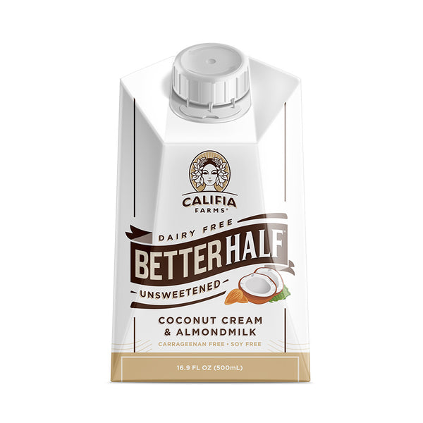 Califia Farms Better Half - Unsweetened (16.9oz) - CustomPaperCup.com Branded Restaurant Supplies