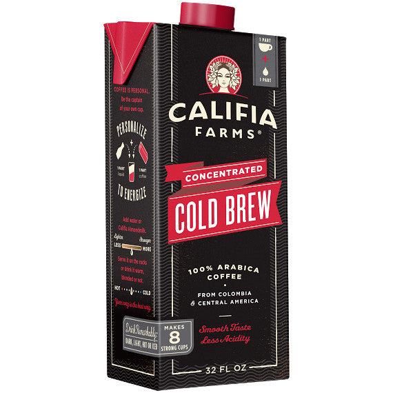 Califia Farms Concentrated Cold Brew Coffee (32oz) - CustomPaperCup.com Branded Restaurant Supplies