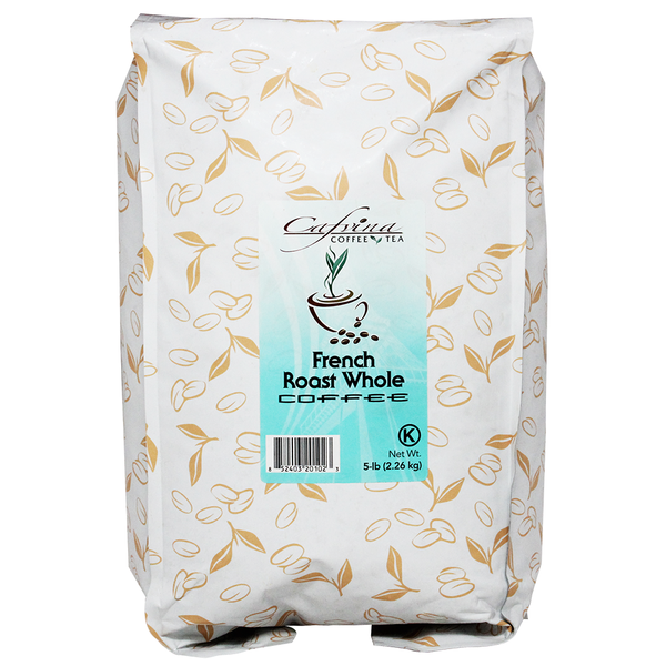 Cafvina French Roast - Whole Bean (5 lbs) - CustomPaperCup.com Branded Restaurant Supplies