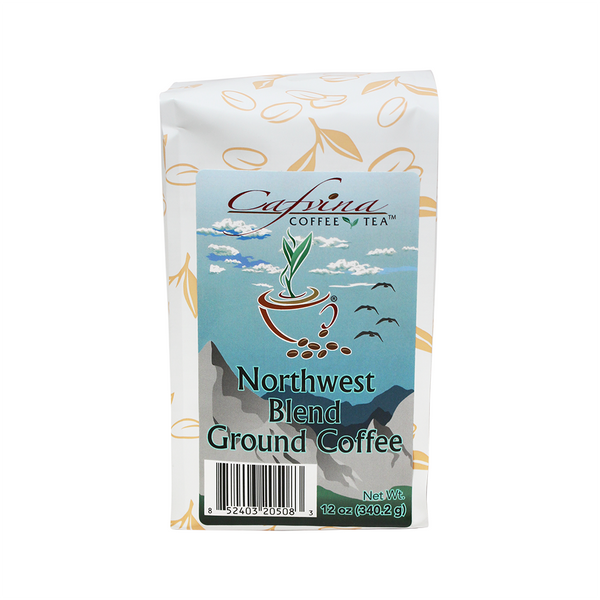 Cafvina Northwest Blend - Ground (12oz) - CustomPaperCup.com Branded Restaurant Supplies