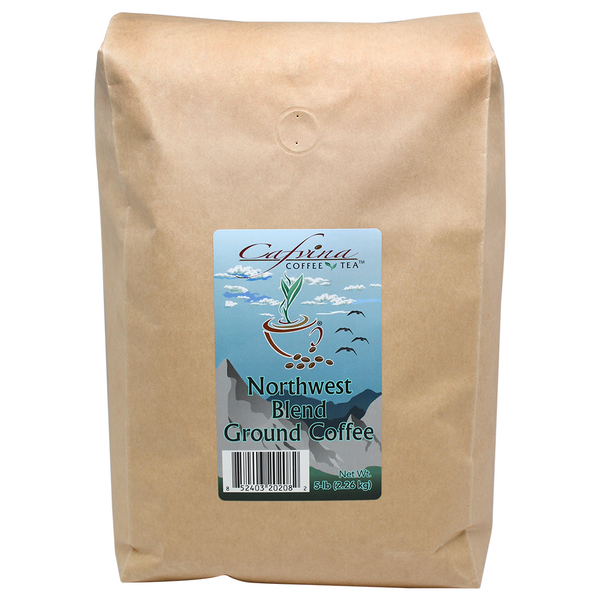 Cafvina Northwest Blend - Ground (5 lbs) - CustomPaperCup.com Branded Restaurant Supplies
