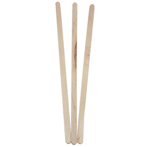 "7.5"" Wooden Stir Sticks - 500 ct - CustomPaperCup.com Branded Restaurant Supplies"