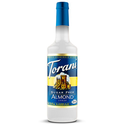 Torani Sugar Free Almond Syrup (750 mL) - CustomPaperCup.com Branded Restaurant Supplies