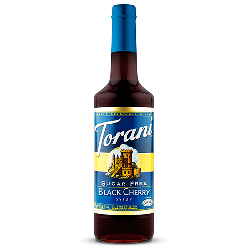 Torani Sugar Free Black Cherry Syrup (750 mL) - CustomPaperCup.com Branded Restaurant Supplies