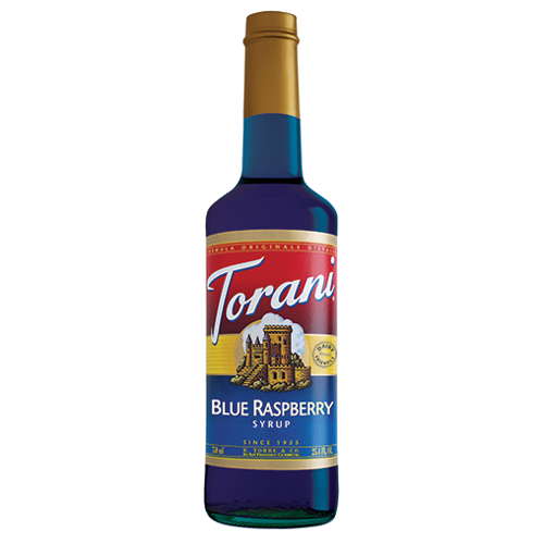 Torani Blue Raspberry Syrup (750 mL) - CustomPaperCup.com Branded Restaurant Supplies