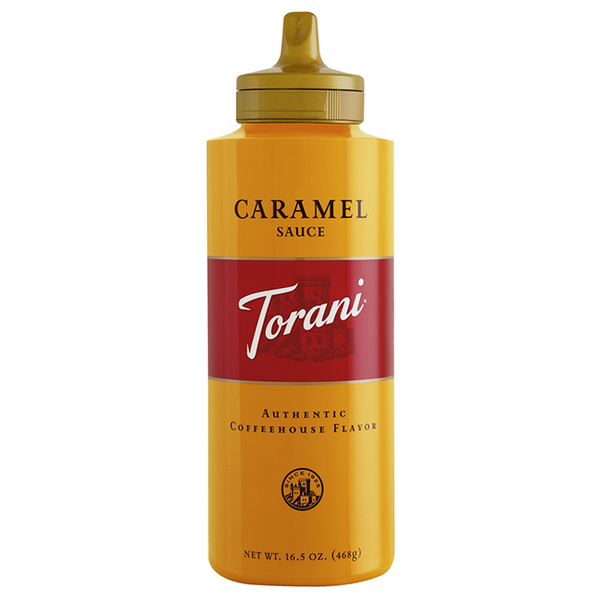 Torani Caramel Sauce Squeeze Bottle (16.5oz) - CustomPaperCup.com Branded Restaurant Supplies