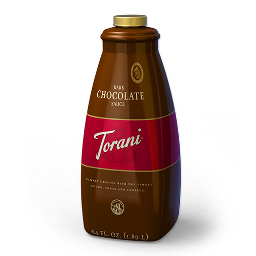 Torani Dark Chocolate Sauce (64oz) - CustomPaperCup.com Branded Restaurant Supplies