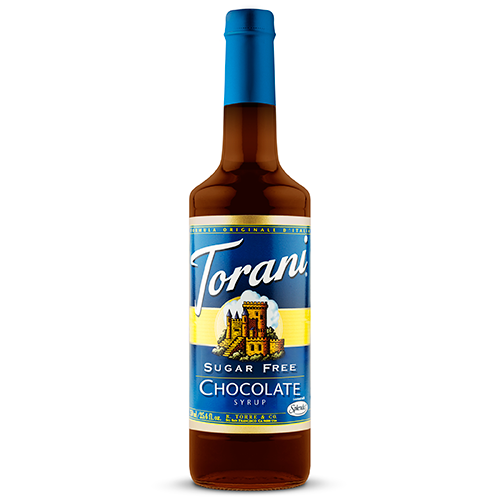 Torani Sugar Free Chocolate Syrup (750 mL) - CustomPaperCup.com Branded Restaurant Supplies