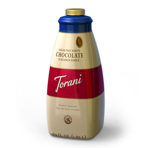 Torani Sugar Free White Chocolate Sauce (64oz) - CustomPaperCup.com Branded Restaurant Supplies