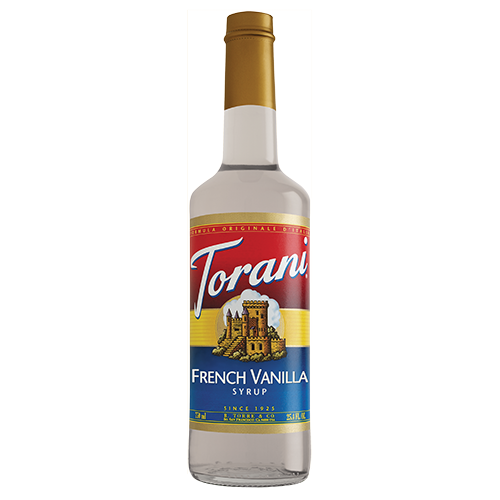 Torani French Vanilla Syrup (750 mL) - CustomPaperCup.com Branded Restaurant Supplies