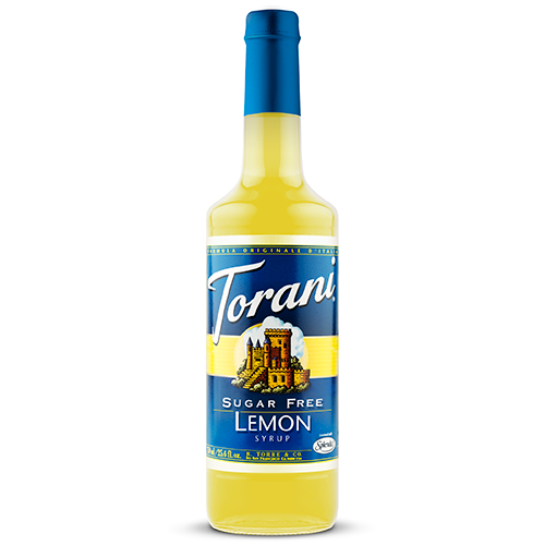 Torani Sugar Free Lemon Syrup (750 mL) - CustomPaperCup.com Branded Restaurant Supplies
