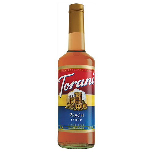 Torani Peach Syrup (750 mL) - CustomPaperCup.com Branded Restaurant Supplies
