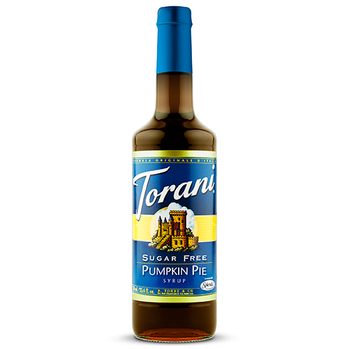 Torani Sugar Free Pumpkin Pie Syrup (750 mL) - CustomPaperCup.com Branded Restaurant Supplies