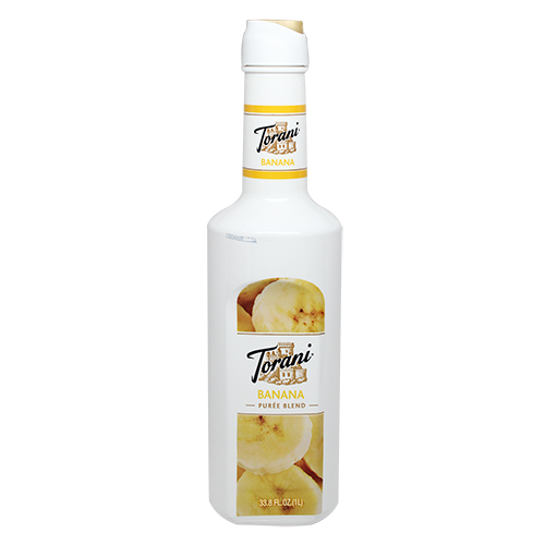Torani Banana Purée Blend (1L) - CustomPaperCup.com Branded Restaurant Supplies
