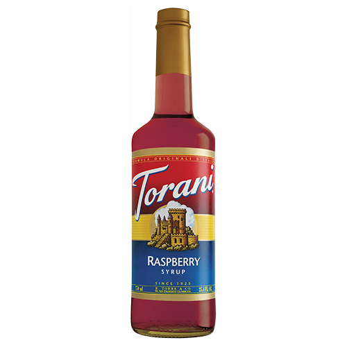 Torani Raspberry Syrup (750 mL) - CustomPaperCup.com Branded Restaurant Supplies