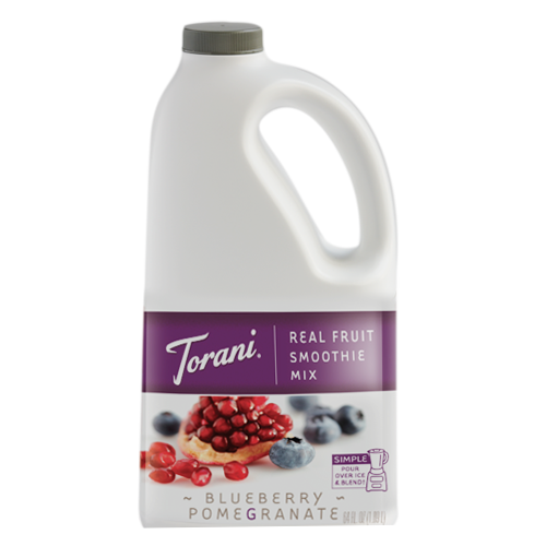 Torani Blueberry Pomegranate Real Fruit Smoothie Mix (64 oz) - CustomPaperCup.com Branded Restaurant Supplies