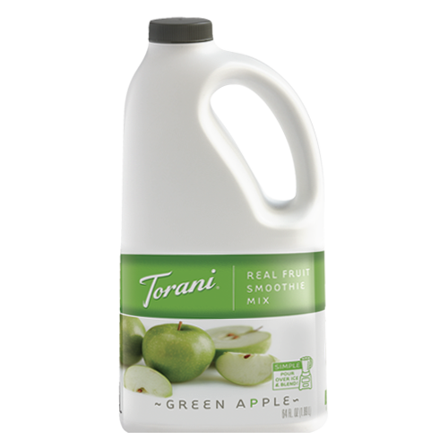 Torani Green Apple Real Fruit Smoothie Mix (64oz) - CustomPaperCup.com Branded Restaurant Supplies