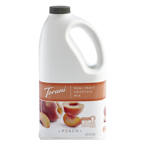 Torani Peach Real Fruit Smoothie Mix (64oz) - CustomPaperCup.com Branded Restaurant Supplies