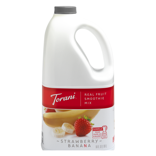 Torani Strawberry Banana Real Fruit Smoothie Mix (64oz)