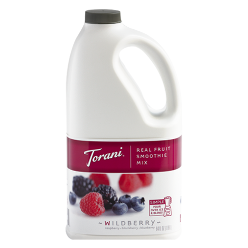 Torani Wildberry Real Fruit Smoothie Mix (64oz) - CustomPaperCup.com Branded Restaurant Supplies