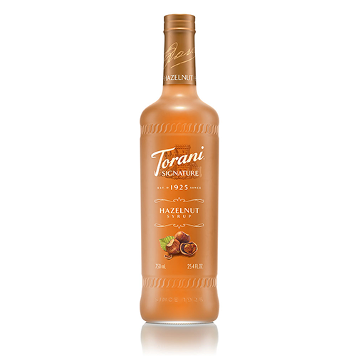 Torani Signature Hazelnut Syrup (750 mL) - CustomPaperCup.com Branded Restaurant Supplies