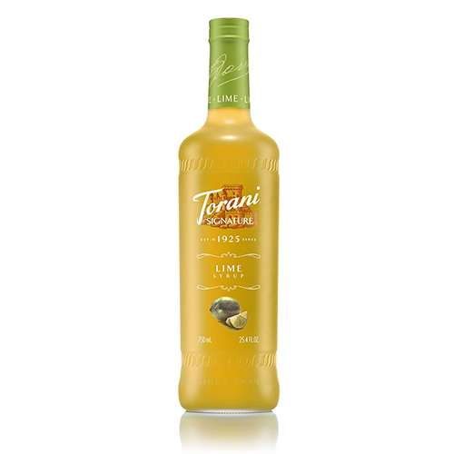 Torani Signature Lime Syrup (750 mL) - CustomPaperCup.com Branded Restaurant Supplies