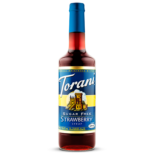 Torani Sugar Free Strawberry Syrup (750 mL) - CustomPaperCup.com Branded Restaurant Supplies