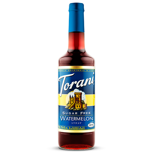 Torani Sugar Free Watermelon Syrup (750mL) - CustomPaperCup.com Branded Restaurant Supplies