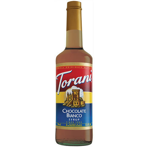 Torani White Chocolate Syrup (750 mL) - CustomPaperCup.com Branded Restaurant Supplies