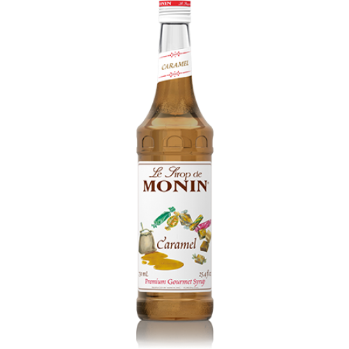Monin Caramel Syrup (750mL) - CustomPaperCup.com Branded Restaurant Supplies